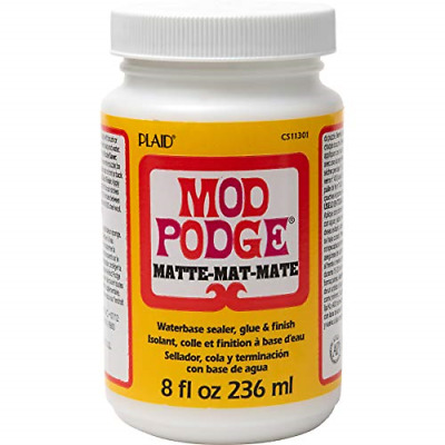 Mod Podge 8 Oz Matte Waterbase Sealer, Glue And Finish, Clear • 14.42£