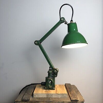 2 Arm EDL Vintage Industrial Machine Lamp - Anglepoise - Fully Restored -Salvage • 175£