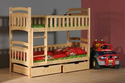 Bunk Bed Loft Bed Double Bed Kid's Bed Wood Made IN Eu • 422.11£
