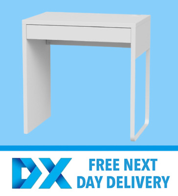 IKEA NEW MICKE DESK Drawer Computer Desk Home Office Workstation White 73x50cm • 64.99£