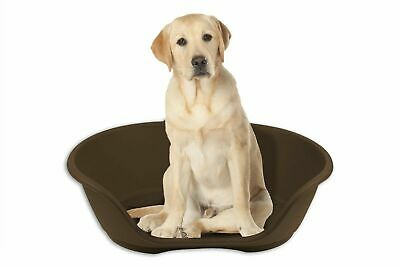 LARGE Plastic Pet Bed Dog Bed Heavy Duty Waterproof Puppy Cat Cushion Basket  • 12.95£