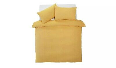 PERSONALISED YELLOW Home Easycare Polycotton Reversible Set - DOUBLE • 27.99£