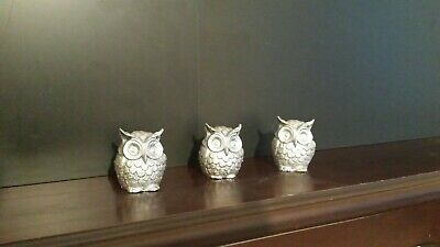 Stomping Owl Ornament Holiday Two Sided Porcelain Handmade Original Design