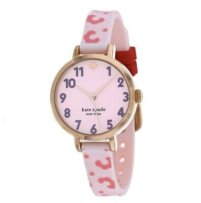 $ CDN106.08 • Buy Kate Spade New York Park Row Pink Silicone Watch KSW1649