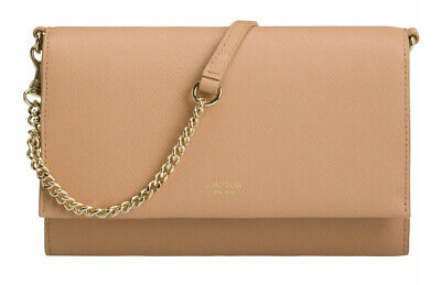 AU110 • Buy OROTON LEATHER CHAIN CROSSBODY POUCH/CLUTCH BAG In Caramel RRP$199