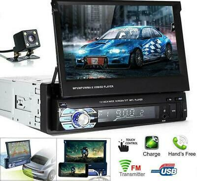 AU150.38 • Buy 1 Din Single 7  HD Flip Out Touch Screen Car Radio Stereo Bluetooth MP5 Player