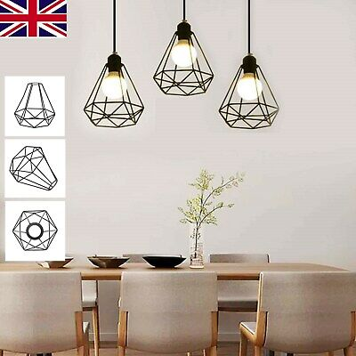 £7.99 • Buy Industrial Wire Cage Style Retro Ceiling Pendant Light/lamp Shade Metal Easy Fit