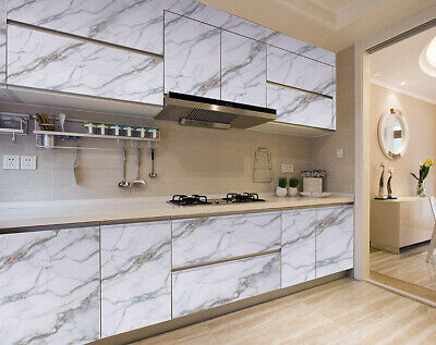 Marble Self Adhesive Wall Stickers Worktop Cover Kitchen Cabinet Wrap Oil Proof • 14.99£