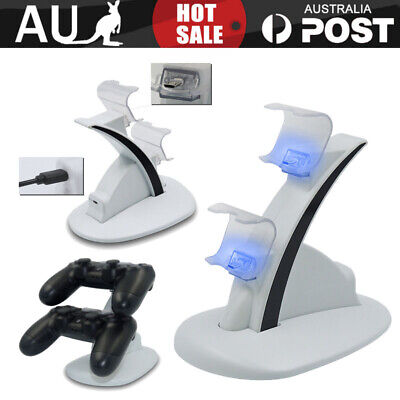 AU14.85 • Buy For Playstation 4 PS4 Controller Charger Dock Dual Stand Charging Station Pad