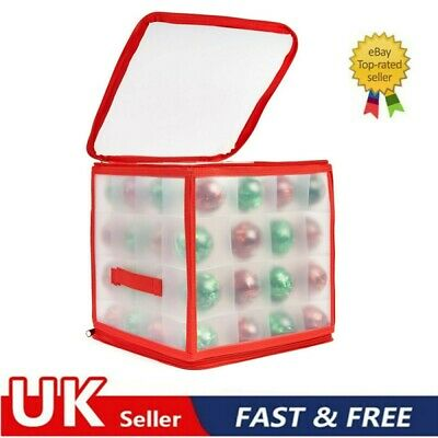 64 Bauble Storage Box Christmas Xmas Tree Decoration Organiser Baubles Decor Bag • 11.96£
