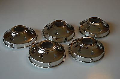 5 Antique Style Chrome Glass Light Shade Gallery 3 1/4 Inch Lamp Shade Nr4 • 39.99£