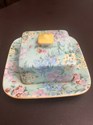 Very Rare Shelley China Melody Square Butter Or Small Cheese Dish • 10£
