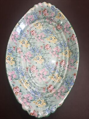 Rare Large Size Vintage Shelley China Melody Art Deco Oval Dish 335mm X 195mm • 13.50£