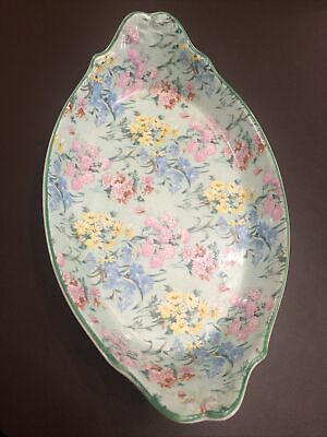 Rare Medium Size Vintage Shelley China Melody Art Deco Oval Dish 245mm X 150mm • 10£