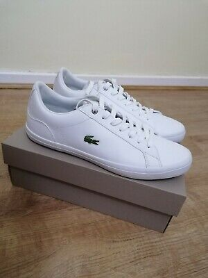 Lacoste Men's Lerond 418 Leather Casual Shoes Trainers White UK 8.5 • 36£