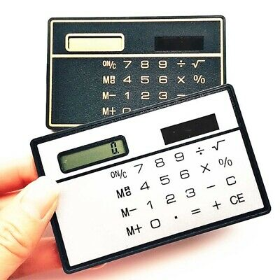 Mini Small Slim Portable Thin Pockets Solar Credit Card Calculator Multifunction • 5.69£