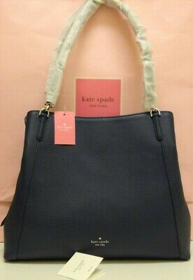 $ CDN182.26 • Buy ⭐ NWT Kate Spade Jackson Leather Large Triple Compartment Shoulder Tote Nightcap