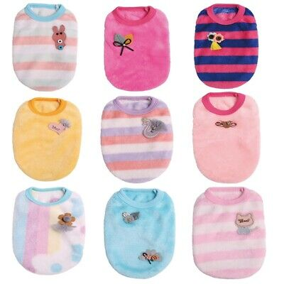£2.89 • Buy Puppy Vest Small Teacup Dog Clothes Cat Vests Shirt Coral Fleece Chihuahua Pet