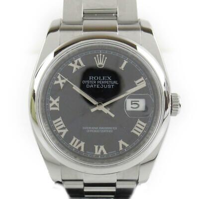 $ CDN7918.24 • Buy ROLEX Datejust Watch 116200 Automatic Black Stainless Steel SS
