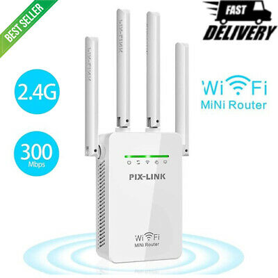 UK Plug WiFi Signal Booster Repeater Extender Network Range Wireless Amplifier • 11.84£
