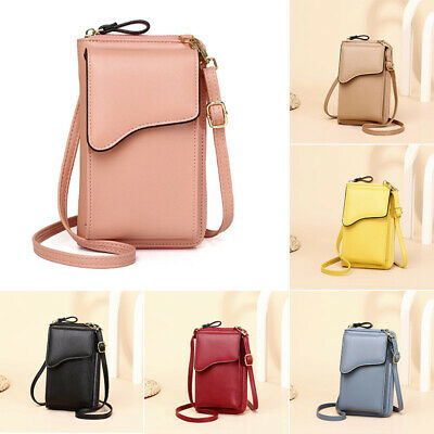 AU21.29 • Buy Women Mobile Phone Bag PU Cross Body Mini Purse Wallet Shoulder Pouch