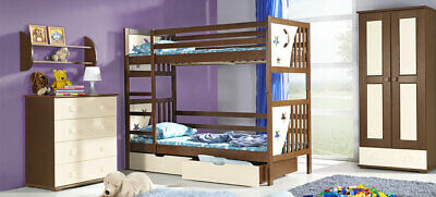 Double Bed Kid's Bed Teen Bed+ Bed Box Bed Pine 2 X Beds High Bed • 593.02£