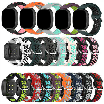 $ CDN5.16 • Buy Comfy Silicone Watch Wristband Strap For Fitbit Versa 3 / Fitbit Sense Band