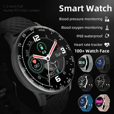 AU37.49 • Buy Smart Watch IP68 PPG ECG Blood Oxygen Pressure Heart Rate For Android IPhone