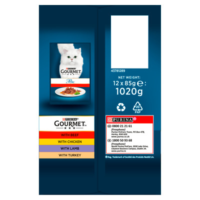 Gourmet Perle Country Favourites Cat Food Pouches - 12 X 85g • 7.44£