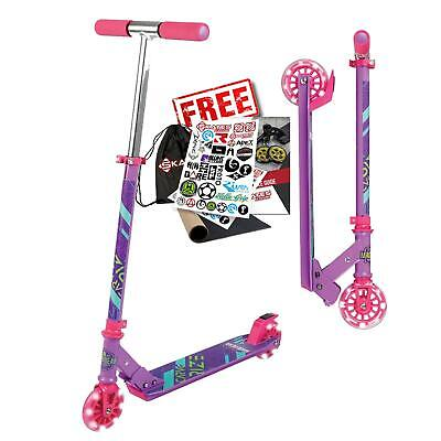 £34.95 • Buy Madd Gear Carve Rize Foldable Light Up Wheel Childrens Scooter - Purple / Pink