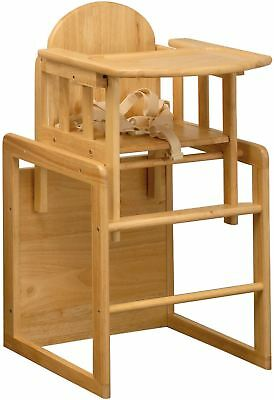 East Coast 3 IN 1 COMBINATION WOODEN HIGHCHAIR/ PLAY TABLE + SAFETY HARNESS BN • 75.99£