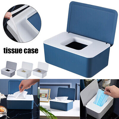 Tissue Wet Wipes Dispenser Holder Paper Storage Box Case With Lid Dustproof HOT • 8.35£