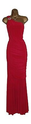 £19.99 • Buy Long Red Grecian Evening Full Floor Length Formal Fishtail Dress Party Prom