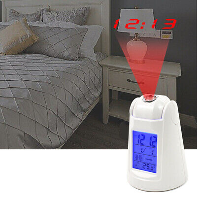 AU18.60 • Buy Alarm Clock Time Temperature Projector, LED Digital Projection LCD Voice Talking