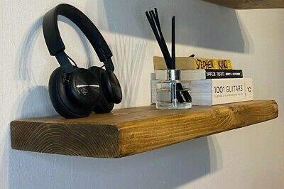 £21.95 • Buy Rustic Solid Reclaimed Wood Extra Chunky Floating Shelf 45mm Free Delivery