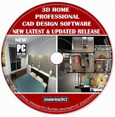 3D CAD Pro Home Office Studio Interior Design Software Planning Auto PC DVD New • 3.99£