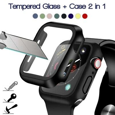 $ CDN5.48 • Buy For Apple Watch Series 6/SE/5/4/3 Full Protective Cover Case + Screen Protector