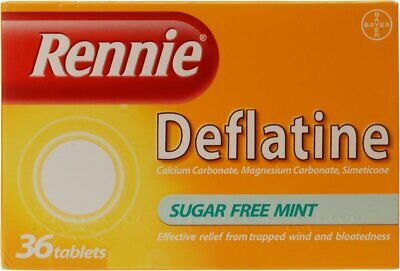 Rennie Deflatine - 36 Tablets Sugar Free For Bloatedness And Trapped Wind  • 7.10£
