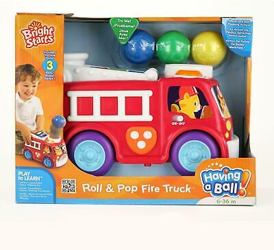 £15.99 • Buy Bright Starts - Roll And Pop Fire Truck - ABC Baby Toddler Car Fun Toy New