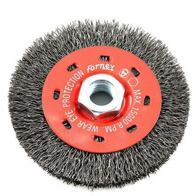 $ CDN18.68 • Buy Forney 72788 Angle Grinder Coarse Wire Wheel Crimped Brush 4 Inch 5/8-11 Arbor