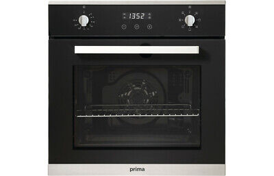 £284.49 • Buy Prima+ PRSO106 Built In Integrated Single Electric Fan Oven Black St Steel 13A