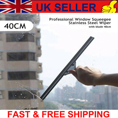 UK Glass Window Cleaning Squeegee Blade Wiper Cleaner Home Shower Bathroom 40CM • 8.86£