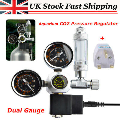 Aquarium System Dual Gauge CO2 Pressure Regulator Bubble Counter Solenoid Valve • 46.66£