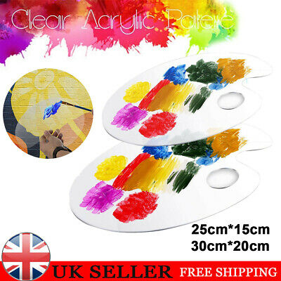 £5.69 • Buy Clear Artist Paint Pallet Painting Tray Palette Color Mixing For Plastic Paints