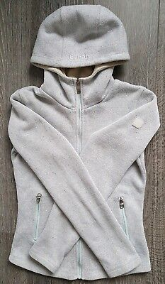Bench Women's Hoodie Cardigan Knit Fleece Lined Size M Pale Blue Great Condition • 30£