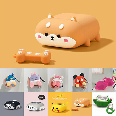 AU15.68 • Buy For Apple Airpods Pro 3rd / 2nd Cute Cartoon Rubber Case Anti-Lost Shell Cover