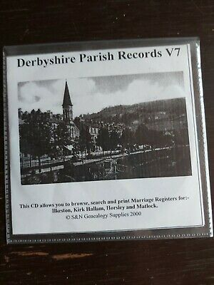 Derbyshire Parish Records V7 Cd Genealogy Supplies For Home Search • 4.99£