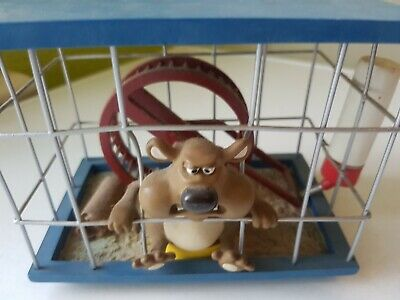 Rare Creature Comforts Fluffy The Hamster In Cage By Aardman Animations 2004 VGC • 39.99£