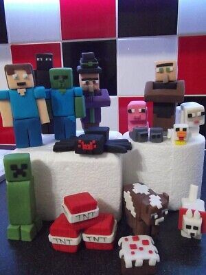 £3 • Buy Minecraft Edible Cake Topper Decorations