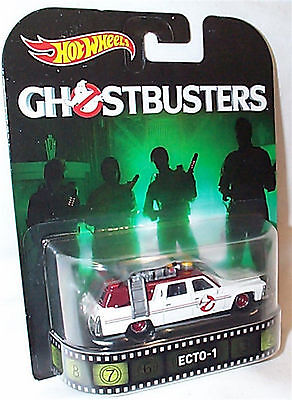 Ghostbusters Ecto-1 Retro 1-64 Scale New In Packet Hot Wheels DWJ72 • 12.99£
